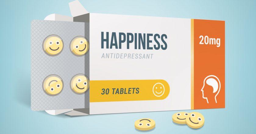 Antidepressants drug box
