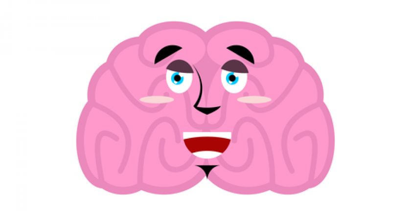 Brain happy emotion. Human brains Emoji marry. Isolated Mind | © Robot100 | Dreamstime Stock Photos