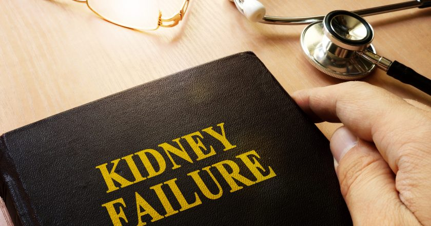 Kidney failure or end-stage renal disease ESRD.