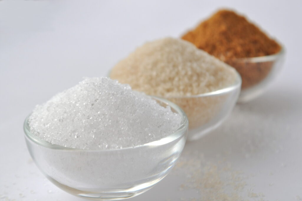 Alternative sweeteners - organic coconut sugar, xylitol, cane sugar,   © Akvals   Dreamstime Stock Photos