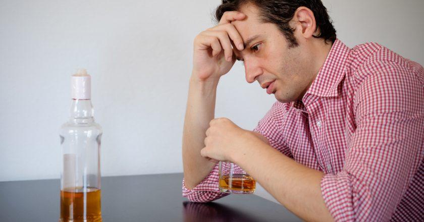 Man alcohol abuse