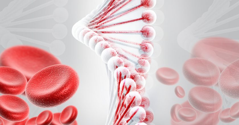 DNA with blood cells | © Designersart | Dreamstime Stock Photos