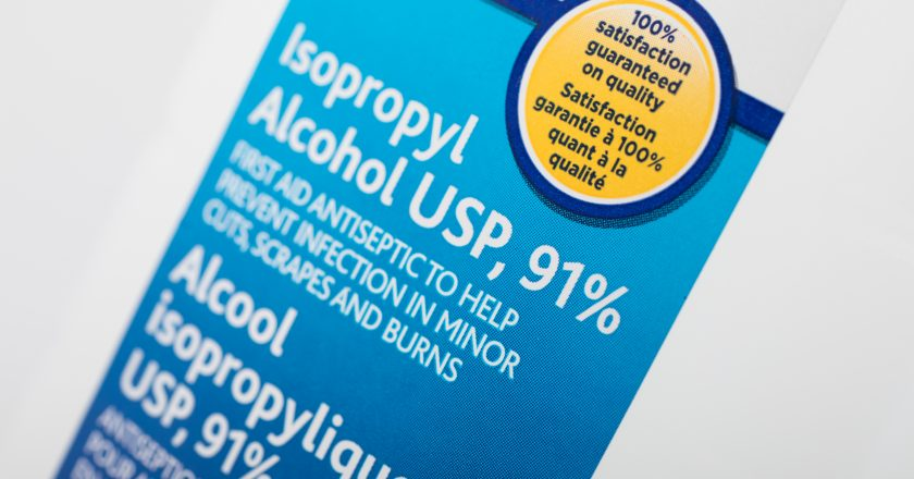 91% Isopropyl Alcohol as disinfectant