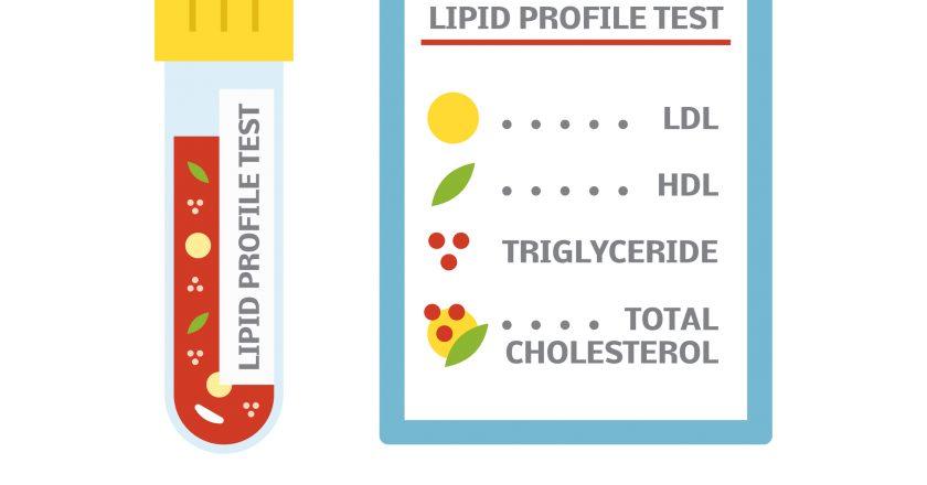 Cholesterol test concept