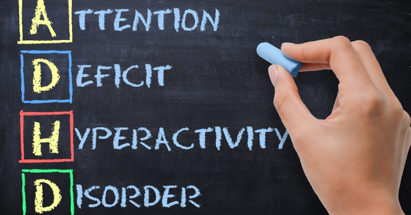 ADHD – attention deficit hyperactivity disorder handwritten by woman on blackboard | © Adrian825 | Dreamstime Stock Photos