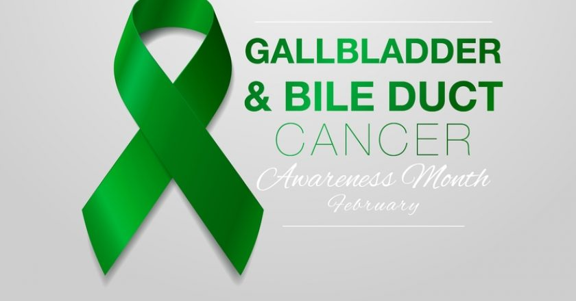 Gallbladder and Bile Duct Cancer Awareness Calligraphy Poster Design. Realistic Kelly Green Ribbon. February is | © Iryna Svistun | Dreamstime Stock Photos