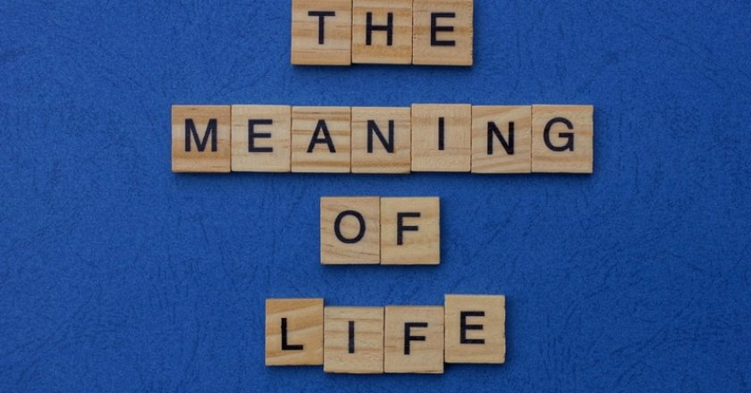 Word the meaning off life made from brown wooden letters | © Anatol1973 | Dreamstime Stock Photos