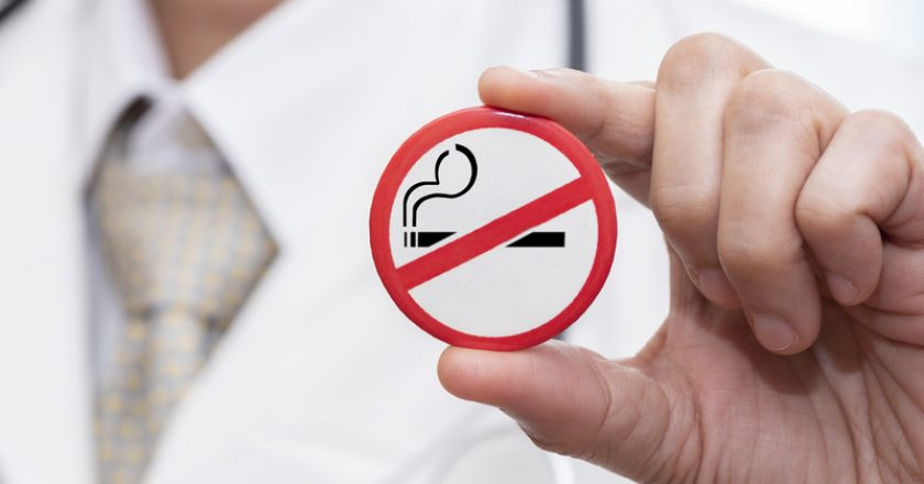 Badge showing stop smoking sign | © Srikijt | Dreamstime Stock Photos
