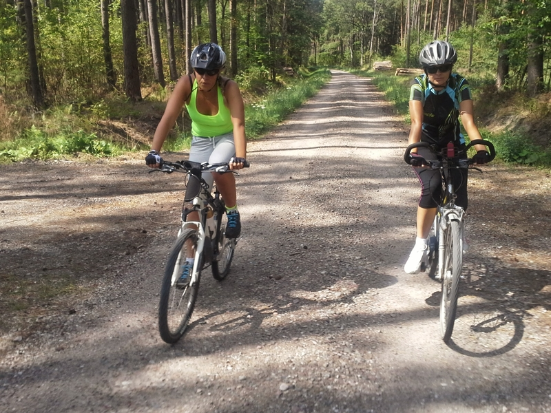 Women cycling in woods | © Sebcz | Dreamstime Stock Photos