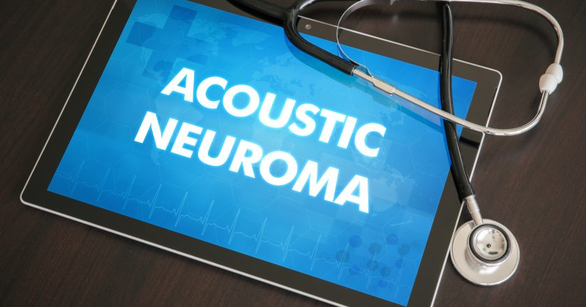 Acoustic neuroma (neurological disorder) diagnosis medical concept on tablet screen with stethoscope | Ακουστικό νευρίνωμα