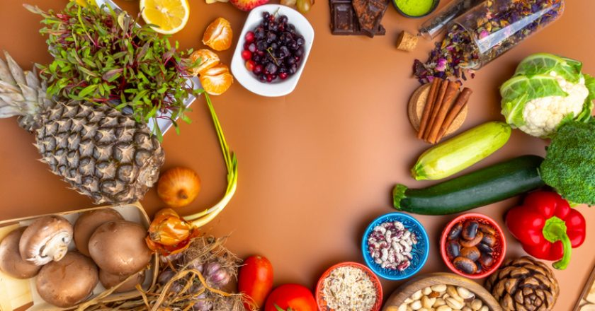 Immune boosting health super food selection background, healthy eating and immune system boost with natural vitamins | © Artemidovna | Dreamstime Stock Photos