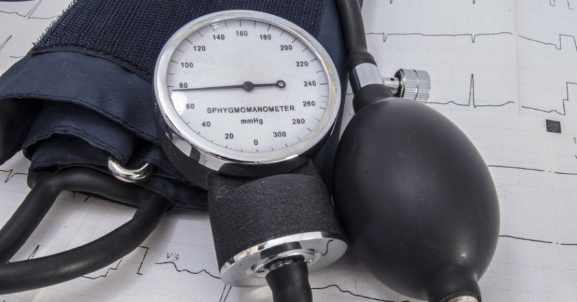 Aneroid sphygmomanometer dial with normal physiological indicators of arterial pressure, bulb, air valve, cuff and black flexible | © Mdshidlovski | Dreamstime Stock Photos