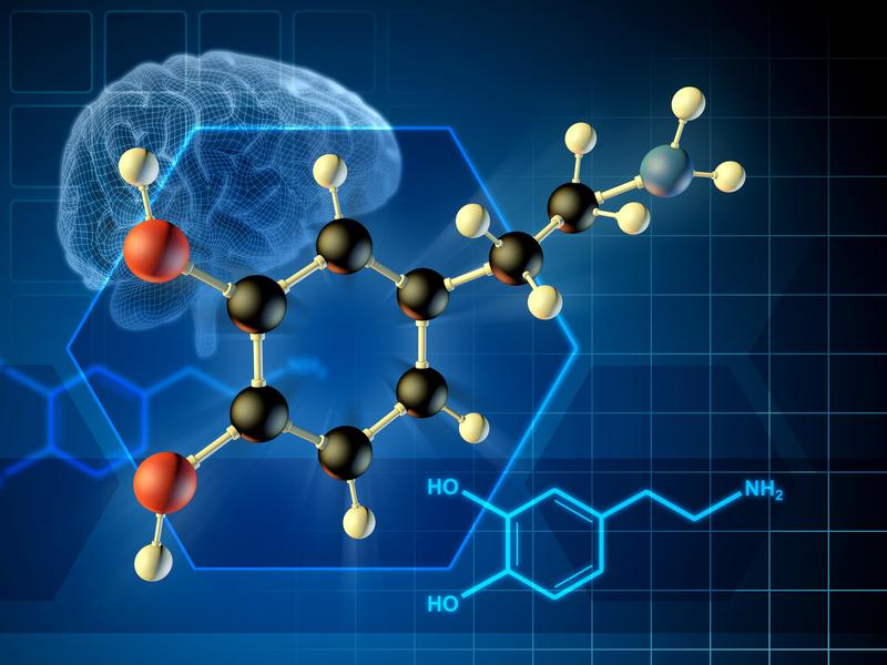 Dopamine molecule | © Andreus | Dreamstime Stock Photos
