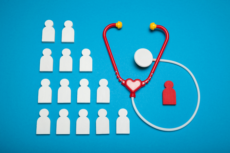 Children heart disease, stethoscope and care background |