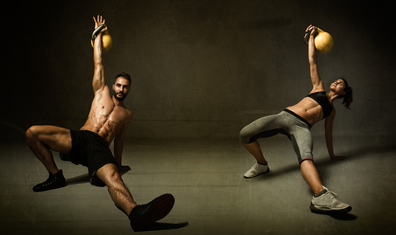Kettleball excercise for two persons |