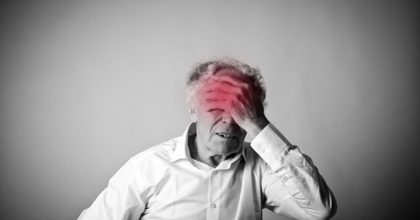 Headache. Old man and stroke. | © Maurus | Dreamstime Stock Photos