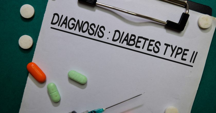 Diagnosis - Diabetes Type II write on a paperwork. Healthcare or Medical Concept