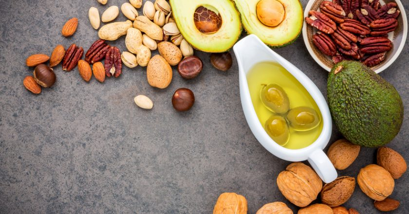 Selection food sources of omega 3 and unsaturated fats. Superfood high vitamin e and dietary fiber for healthy food. Almond | © Kerdkanno | Dreamstime Stock Photos