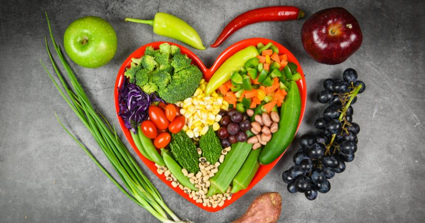 Healthy food selection clean eating for heart life cholesterol diet health concept. Fresh salad fruit and green vegetables mixed | © Poringdown | Dreamstime Stock Photos