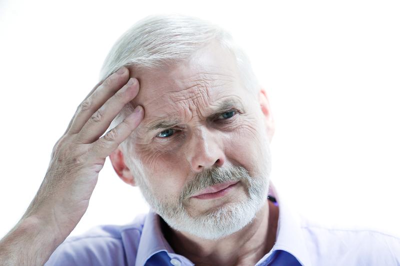 Migraine or memory loss illness senior man   © Pixattitude   Dreamstime Stock Photos